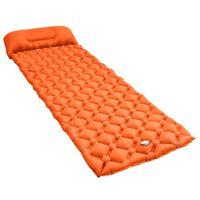 vidaXL Matelas gonflable avec oreiller 58x190 cm Orange