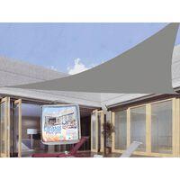 Triangle de toile d'ombrage - auvent hydrofuge gris résistant aux UV 5