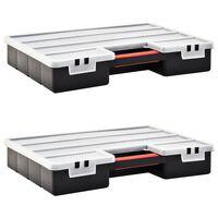 vidaXL Boîtes d'assortiment 2 pcs 460x325x80 mm Plastique