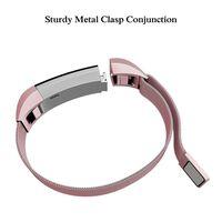 Bracelet Fitbit Alta / HR - Boucle milanaise - Rosépink - L