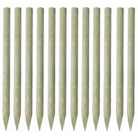 vidaXL Poteaux pointus de clôture 12 pcs Bois imprégné 150 cm
