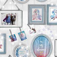 Kids at Home Papier peint Wallpaper Frozen Frames Gris