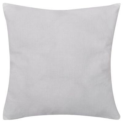 vidaXL Housses de coussin Coton 4 pcs Blanc 40x40 cm
