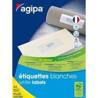 Etiquettes blanches 21x14,8 cm 500 feuilles A4 1000 pièces - APLI AGIP