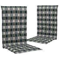 vidaXL Coussins de chaise de jardin 2 pcs Multicolore 120x50x3 cm