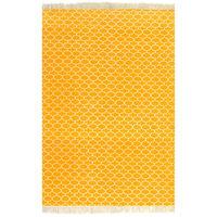 vidaXL Tapis Kilim Coton 120 x 180 cm avec motif Jaune