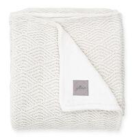 Jollein Couverture River Knit 100x150 cm Molleton Blanc crème