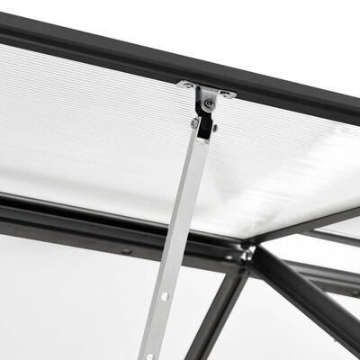 vidaXL Serre Anthracite Aluminium 6,5 m³