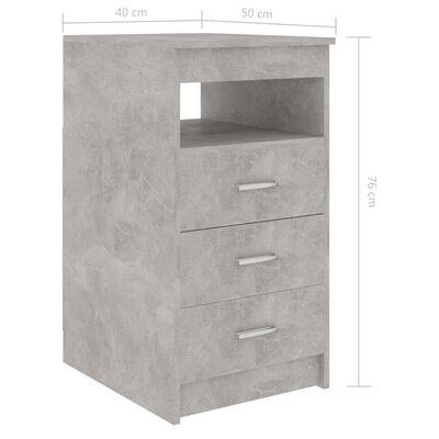 vidaXL Armoire à tiroirs Gris béton 40x50x76 cm Aggloméré
