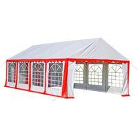 vidaXL Tente de réception 8 x 4 m Rouge