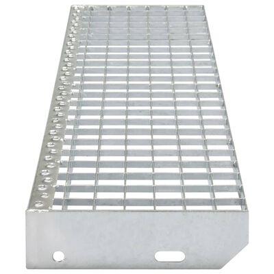 vidaXL Marches d'escalier 4 pcs Acier galvanisé pressé 1000x240 mm