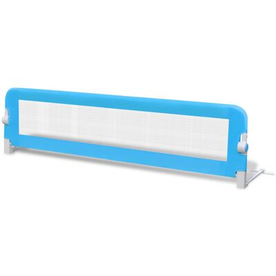 vidaXL Barrière de lit pour enfants 150 x 42 cm Bleu, Blue