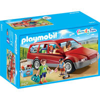 9421 Playmobil Famille avec voiture 1218