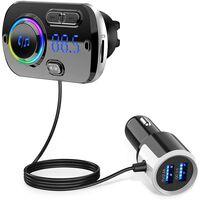 Émetteur FM sans fil pour voiture, Bluetooth 5.0 - Noir