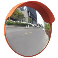 vidaXL Miroir de trafic convexe d'extérieur Plastique PC Orange 45 cm