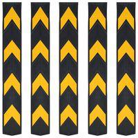 vidaXL Cornière de protection réfléchissante 5 pcs Caoutchouc 80 cm