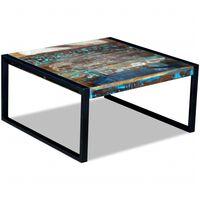 vidaXL Table basse Bois de récupération massif 80 x 80 x 40 cm