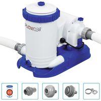 Bestway Pompe de filtration de piscine Flowclear 9463 L/h