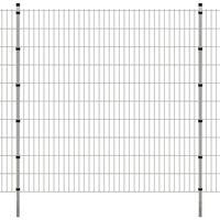 vidaXL Panneaux et poteaux de clôture 2D pour jardin 2008x2030 mm 38 m