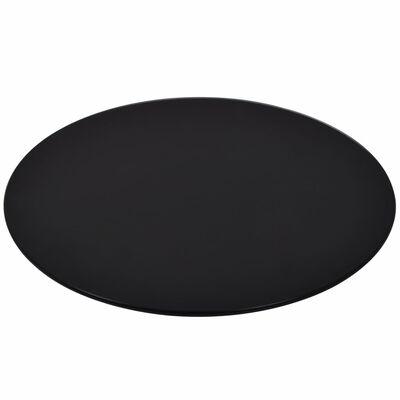vidaXL Dessus de table rond Verre trempé 500 mm