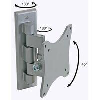 Perel Support de montage pivotant pour TV plat 25-38 cm Argenté CWB008