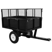 vidaXL Remorque basculante pour tracteur de pelouse Charge de 300 kg