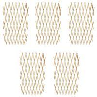 vidaXL Clôture en treillis 5 pcs Bois solide 180x90 cm