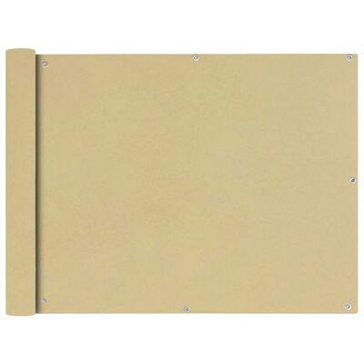 vidaXL Écran de balcon en tissu Oxford 90x600 cm Beige