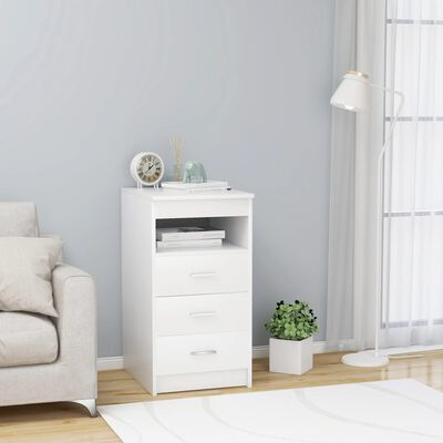 vidaXL Armoire à tiroirs Blanc 40x50x76 cm Aggloméré
