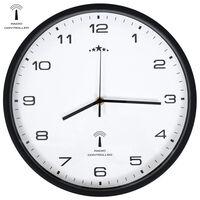 vidaXL Horloge murale radioguidée Mouvement à quartz 31 cm Blanc/noir