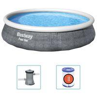 Bestway Ensemble de piscine gonflable Fast Set avec pompe 396x84 cm