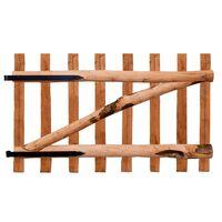 vidaXL Portillon de clôture Bois de noisetier imprégné 100 x 60 cm