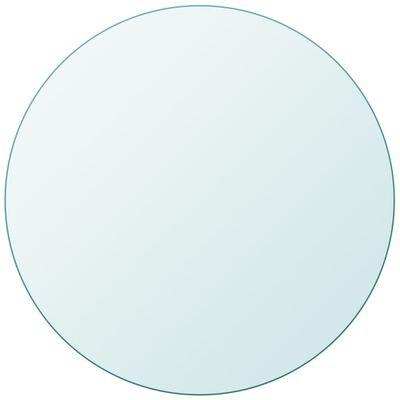 vidaXL Dessus de table ronde en verre trempé 500 mm