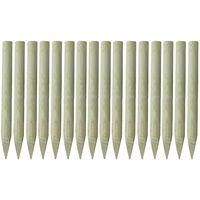 vidaXL Poteaux pointus de clôture 16 pcs Bois imprégné 100 cm