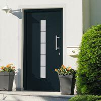 vidaXL Porte d'entrée Aluminium et PVC Anthracite 100x210 cm