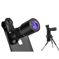 Objectif de téléphone portable avec zoom 18x et trépied - noir