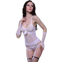Ensemble lingerie sexy blanc 3 pièces taille L / XL