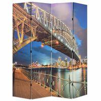 vidaXL Cloison de séparation pliable 160x170 cm Pont Sydney Harbour