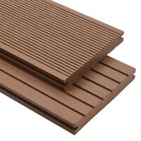 vidaXL Panneaux de terrasse solides 25 m² 4 m Marron clair