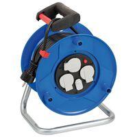 Brennenstuhl Enrouleur de câble avec chargeur USB Garant Bleu 25 m