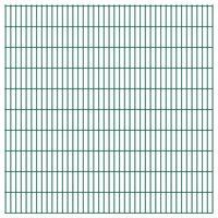 vidaXL Panneaux de clôture de jardin 2D 2,008x2,03 m 8 m total Vert